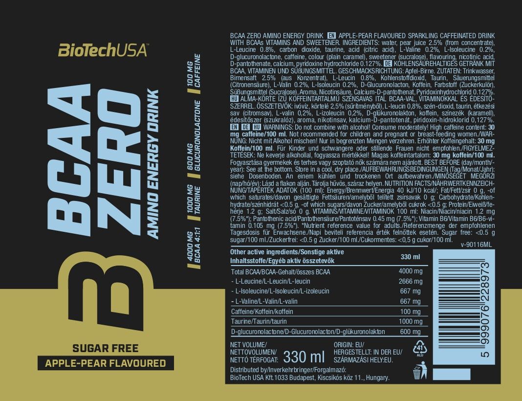 BCAA Zero Energy Drink BioTech USA • CF7 Sport Nutrition